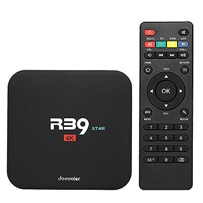 Docooler R39 Smart TV Box Android 7.1 Quad Core RK3229 UHD 4K VP9 H.265 2 Go / 16 Go DLNA WiFi LAN HD Media Player de Docooler