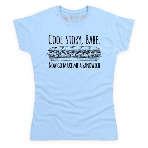 Cool Story Babe Graphic T-Shirt, Damen Himmelblau