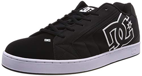 DC Shoes Net, Scarpe da Skateboard Uomo, Nero Black/White Xkkw, 43 EU