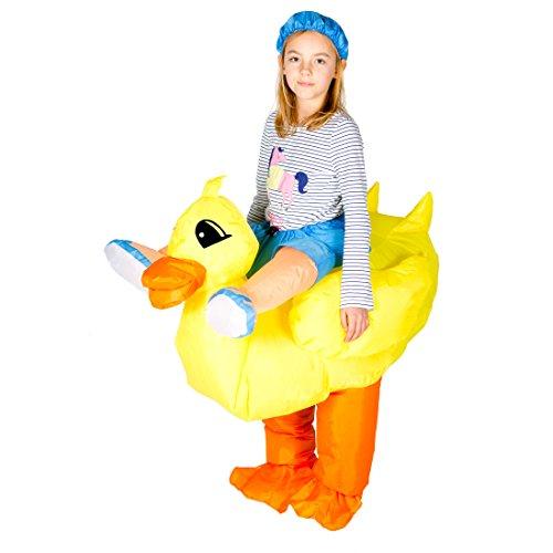 Aufblasbares Ente Kostüm für Kinder Tiere Zoo Safari (Reit Tier Halloween Kostüme)