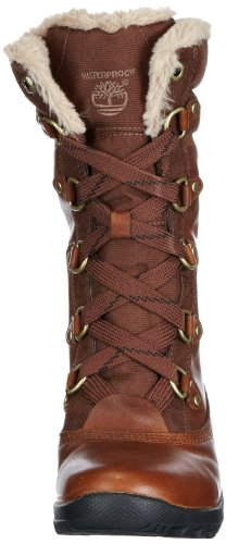Timberland Mount Hope Fabric and Leather Waterproof, Polacchine Donna Marrone