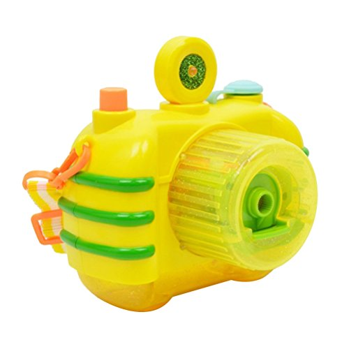 TOYANDONA Automatisches Bubble Blower Bubble Machine mit Licht und Musik Bubble Spielzeug für Kinder Kleinkinder (gelb)