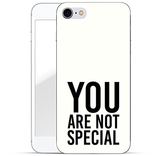 finoo | iPhone 8 Handy-Tasche Schutzhülle | ultra leichte transparente Handyhülle in harter Ausführung | kratzfeste stylische Hard Schale mit Motiv Cover Case | Watercolor heart butterflies You are not special white