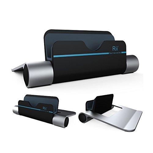 Rii RT510 Ständer aus Alu für Smartphones, E-Reader, Tablet sowie iPhones und iPads Winkel verstellbar Alu edel Halter Metall gummiert
