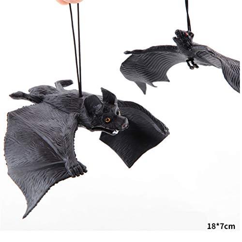 UYTSXFH Halloween-Spielzeug zum Aufhängen, Fledermaus, Horror-Dekoration für Spukhaus-Party 18 * 7cm Schwarz