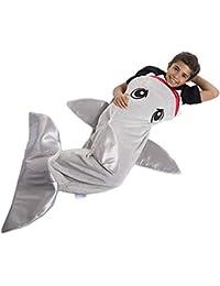 54f1936dfb Cola Infantil de Manta de tiburón - Saco de Dormir de Cuatro Estaciones para  los Regalos de cumpleaños de Navidad y para niños y…
