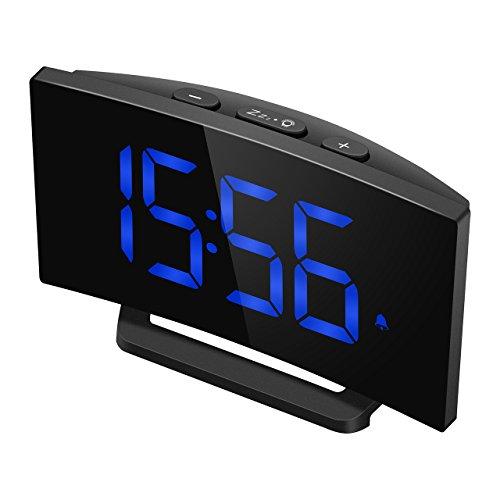 """Digitaler Wecker, Mpow Digitalwecker 5\""""LED Digitaluhr, Alarm Clock Tischuhr, 3 Alarmtöne, 2 Lautstärke, 9 \' Snooze, 6 Helligkeit, 30 Minuten Klingelzeit Datensicherung USB-Ladeanschluss.(Ohne Adapter)"""