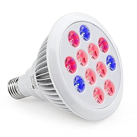 Pflanzenlampe E27 12W LESHP LED Led Wachstumslampe für Wasserpflanzen, Saatgut,