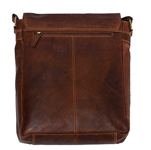 b0e467b9e75e8 MATADOR ECHT Leder Umhängetasche Schultertasche Herren   Damen Messenger  Bag Vintage Braun Tan