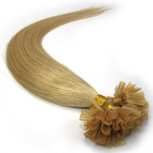 Beauty Online 55,9 cm Blond Cendre (# 24) 100s Nail U Astuce Extensions de cheveux humains Droit – Extensions cheveux raides 100% cheveux naturels de qualité Remy