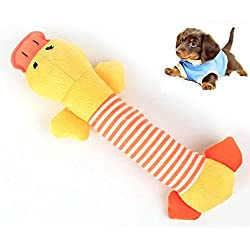 Juguete Mordedor con Sonidos para Perro Cachorro Mascota Peluche -Color Amarillo