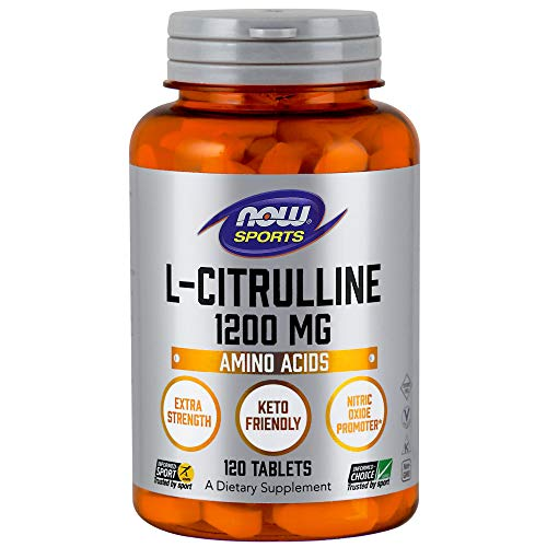 L-citrulline, 1200 mg, 120 comprimés - Now Foods
