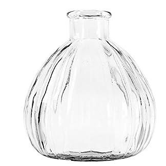 Ruikey Transparente Pequeño florero de Cristal de la chuchería Creativo Pequeño secó la Boca del florero DIY Decoración Plantas de la Maceta para Espacios de Oficina Sala Dormitorio
