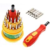 Screwdrivers Set In Rounded Box, 31 Pcs