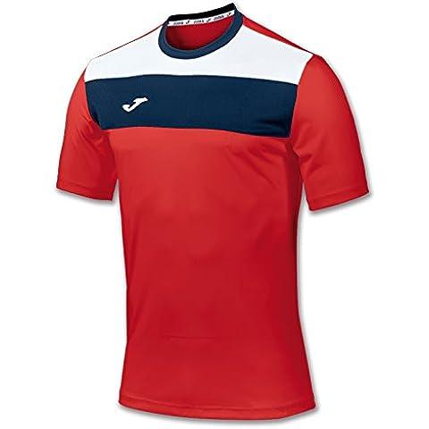 Joma 100224.600 - Camiseta de equipación de manga corta para hombre, color rojo, talla L