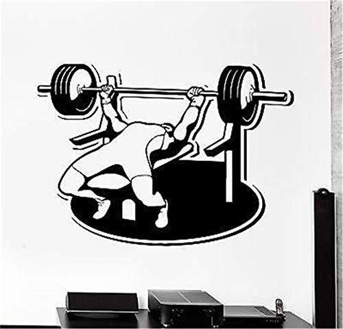 stickers muraux enfants alphabet Barbell de presse de banc de musculation de sport
