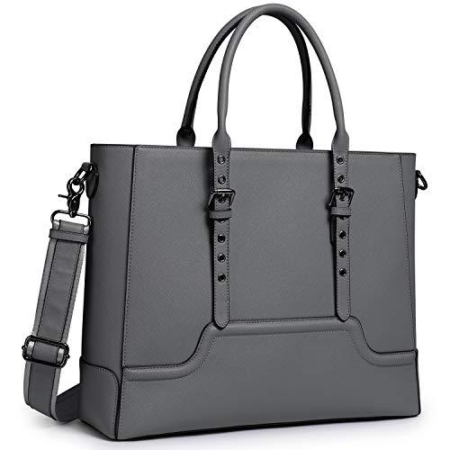 S-Zone Professionelle Laptoptasche für Damen, 15,6 Zoll (39,6 cm) Grau grau -