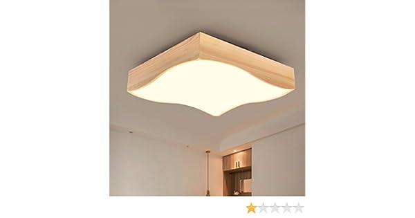 Led lampe holz decke lampe zimmer schlafzimmer lichtdecke einfache
