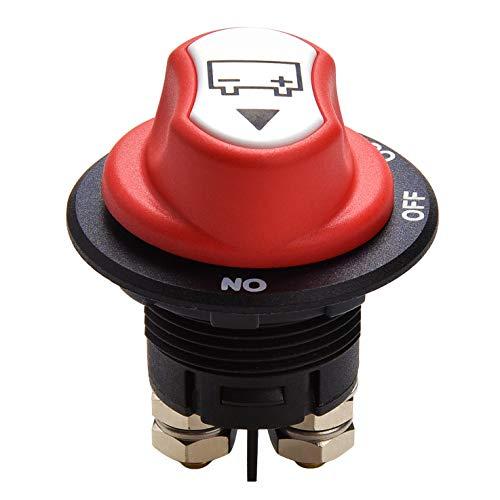 Qiorange Auto Batterie Trennschalter Hauptschalter 100A ON-Off-Out Einbau Stromschalter für Motorrad LKW KFZ Boot 12V 24V bis 32V (Type M 1 Stück)