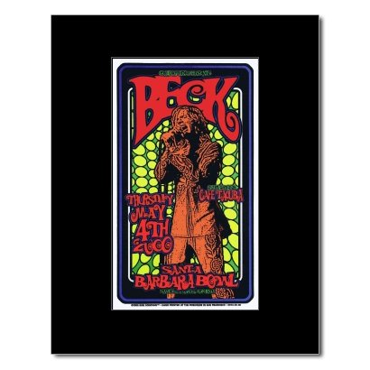 BECK - Santa Barbara Bowl California 2000 Matted Mini Poster - 21x12.2cm Santa Barbara Bowl