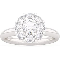 Anillo PEONIA de diamantes en oro 18kt y paladio para mujer