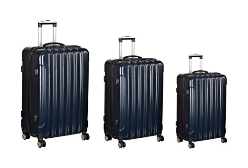 Create-Home-ABS-Polycarbonate-Dark-Blue-Hard-sided-Luggage-Set-Set-of-3