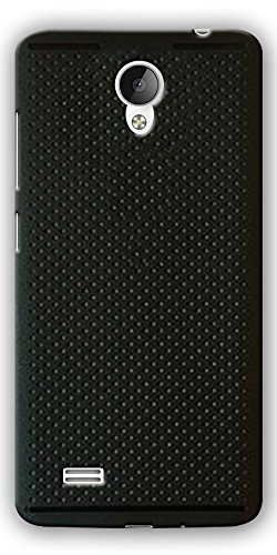 DigiPrints Silicon Dotted Design Back Cover for Vivo Y21L-Blk