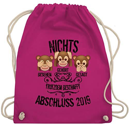 Affen Emojis ABSCHLUSS 2019 - Unisize - Fuchsia - WM110 - Turnbeutel & Gym Bag ()