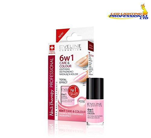 Eveline Nail Therapy Care & Farbe Nail Klimaanlage 6 in1 Rose 5 ml -