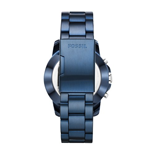 FOSSIL Hybrid Smartwatch Q Grant Blue Stainless SteelMens Quartz Wrist Watch With Activity Tracker Water Resistant