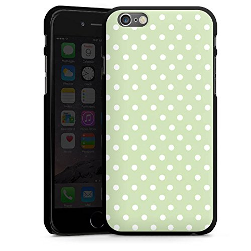 Apple iPhone 5s Housse Étui Protection Coque Polka Petits points Motif CasDur noir
