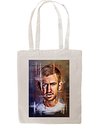 calvin-harris-portrait-drawing-fan-art-tote-shopping-bag
