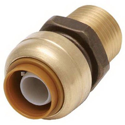 SHARKBITE/CASH ACME - 1/2 x 1/2-In. MIP Straight Pipe Connector, Lead-Free