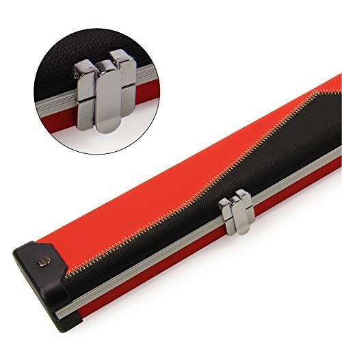 Tomahawk Pro ¾ BLACK & RED ZIG ZAG Aluminium Snooker Cue Case ? 119cm