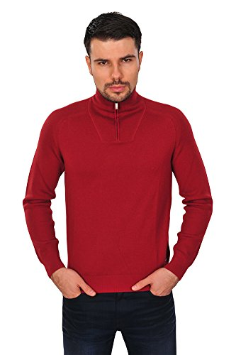 Zegna Sport Pullover Herren Rot Wolle Regular Fit Casual 3XL