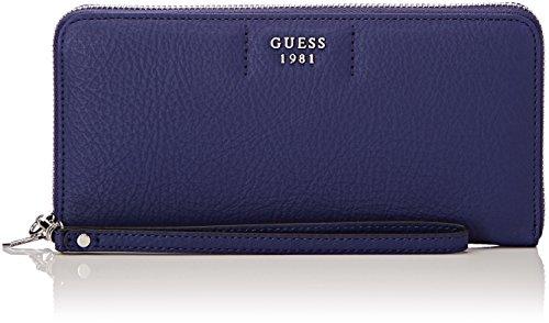 Guess Damen Slg Wallet Geldbörse, Blau (Blue), 2x10x21 centimeters (Zehn Wallet Zip-around Damen)