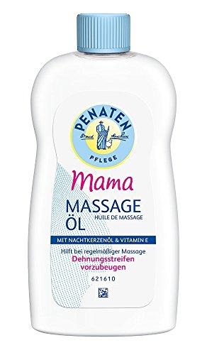 Penaten Mama Massage-Öl 200ml - Reichhaltiges Pflegeöl für die beanspruchte Haut während der Schwangerschaft - Mit 100% pflanzlichem Öl (1 x 200ml)