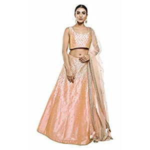 Pushp Paridhan New Collection Traditional Ethnic Wear Hand Work Peach Lehenga Choli Set For Women