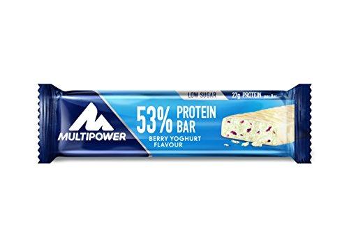 Multipower 53{8a689196e0aadc08b3acc94eedc9044aa423b10e54d44ce723628984001ffb91} Protein Bar – 24 x 50 g Proteinriegel Mix Box (1,2 kg) – 27 Gramm Protein pro Energieriegel – mit Eiweißriegeln in 4 Geschmacksrichtungen
