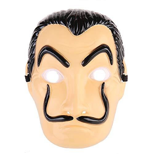 htsmasken Salvador Dali Gesicht Latex Cosplay Halloween Erwachsene Partei Masken Requisiten Film Maske Realistische (Short) ()