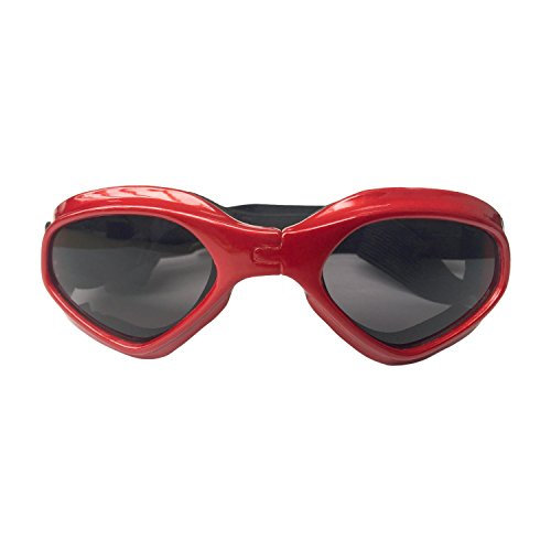 Namsan Hund Sonnenbrille winddichte Hund Brille wasserdicht faltbare Anti-UV-Haustier Sonnenbrille kleinen Hund für Katze - Rot