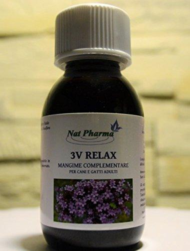 3V RELAX 100 ML - Sedante natural y tranquilizante para perros y...