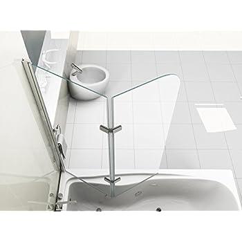 aqualux pare baignoire coulissant 2 panneaux blanc transparent 820 mm bricolage. Black Bedroom Furniture Sets. Home Design Ideas