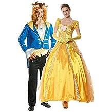 Homme et Femme Couples Disney Bête   Doré Princesse Journée du Livre  Halloween Semaine Déguisement Costume defb3e11e277