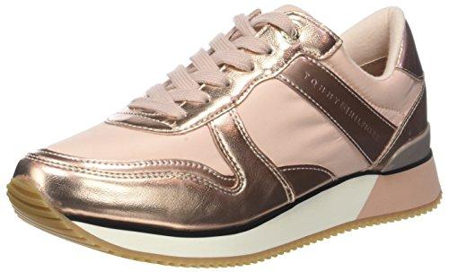 Tommy Hilfiger Damen Metallic Sneaker, Pink (Dusty Rose 502), 39 EU