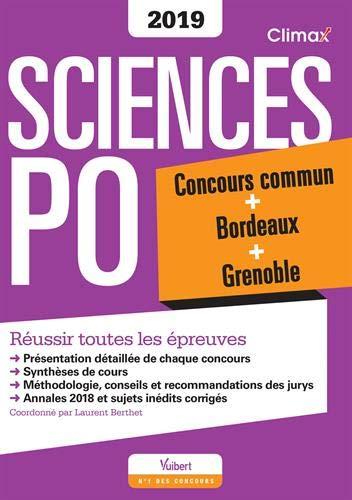 Climax Concours Sciences Po : Concours commun + Bordeaux + Grenoble par Laurent Berthet;Sophie Chapuis;Fadi Kassem;Olivier Milza;Isabelle Safa;Maude Corrieras