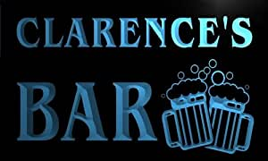 w054168-b CLARENCE Name Home Bar Pub Beer Mugs Cheers Neon Light Sign