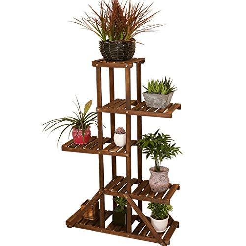 Stand de fleurs Multi couche atterrissant Pot de fleurs Titulaire En Bois Massif Balcon Salon Présentoir Intérieur Décoration (taille : 69X105cm)