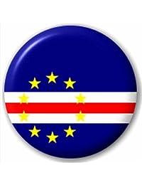 Small 25mm Lapel Pin Button Badge Novelty Cape Verdean Flag