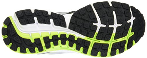 Brooks Ghost 8, Chaussures Multisport Outdoor Homme (Largeur 2E) Multicolore (Metalliccharcoal/Limepunch/Silver)
